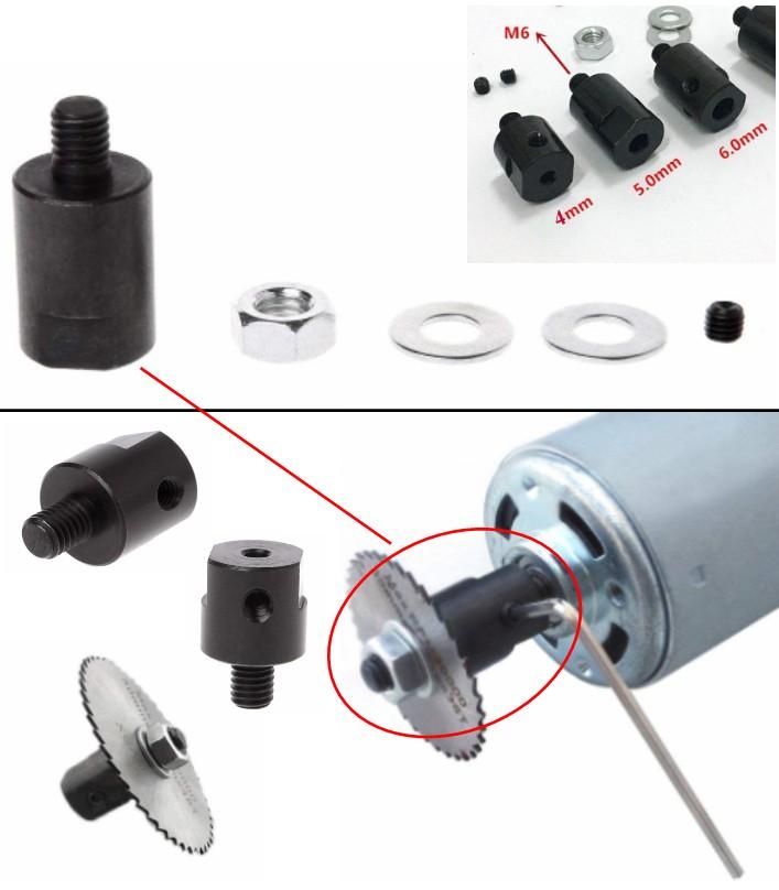 4mm saw shaft coupler chuck blade