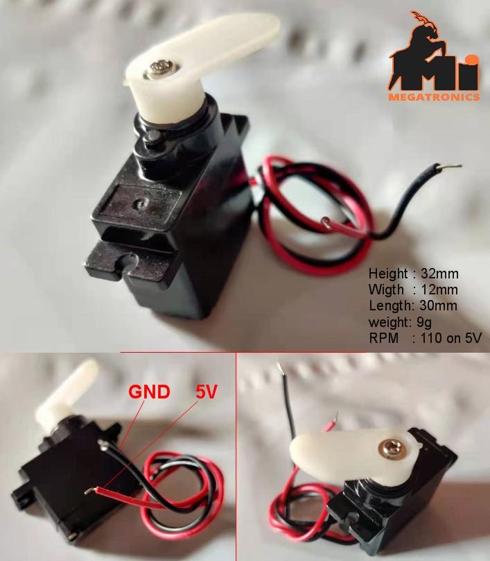 small 5V DC gear motor 110RPM 9g light weight