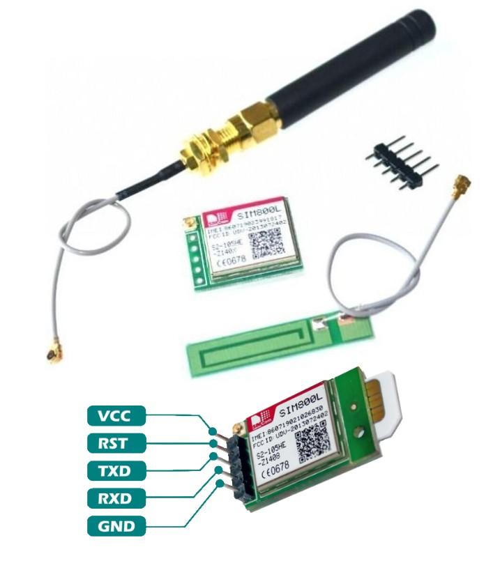 GSM SIM800L GPRS TCP IP Module MicroSIM Card
