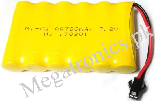 7.2V 700mAh Ni-Cd AA Battery Packs SM 2P Plug