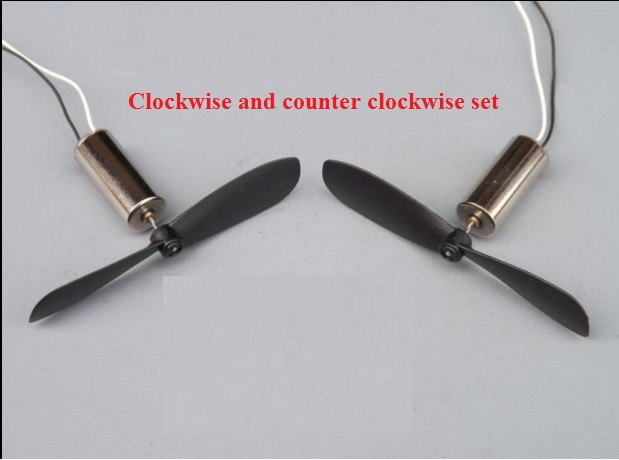 Pair of 3.7V DC small motor with propellers copter