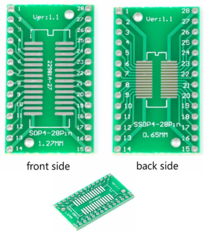 TSSOP28 SOP28 to DIP28 Adapter PCB