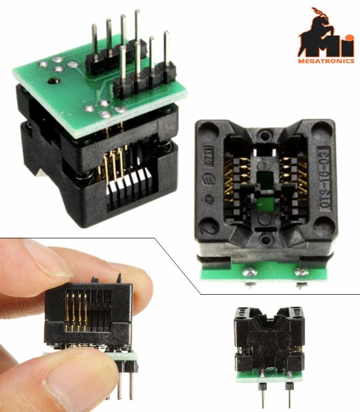 150mil Narrow SOP8 to DIP8 IC test seat socket adapter block conversion seat bou