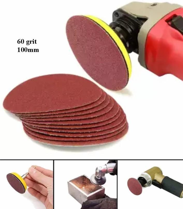 Sandpaper 4 Inches 100mm Abrasive Paper 60 grit Fl
