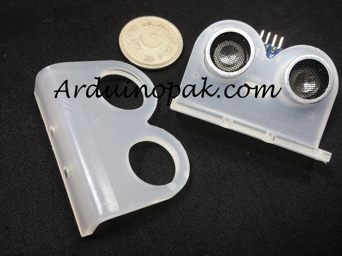 HC-SR04 Ultrasonic Sensor Mounting Bracket Clear A