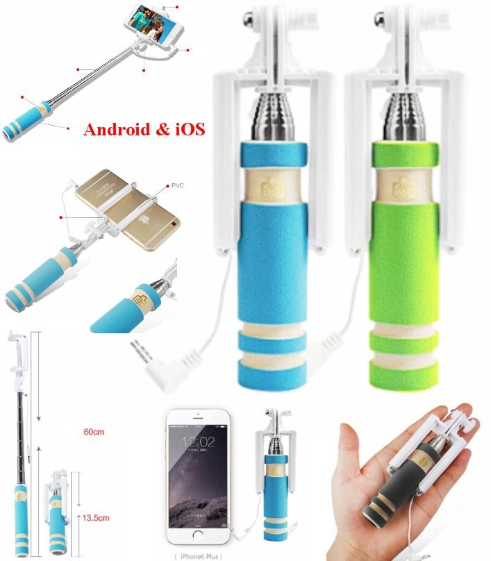 Selfie Stick Mini Monopod with Aux Cable mobile