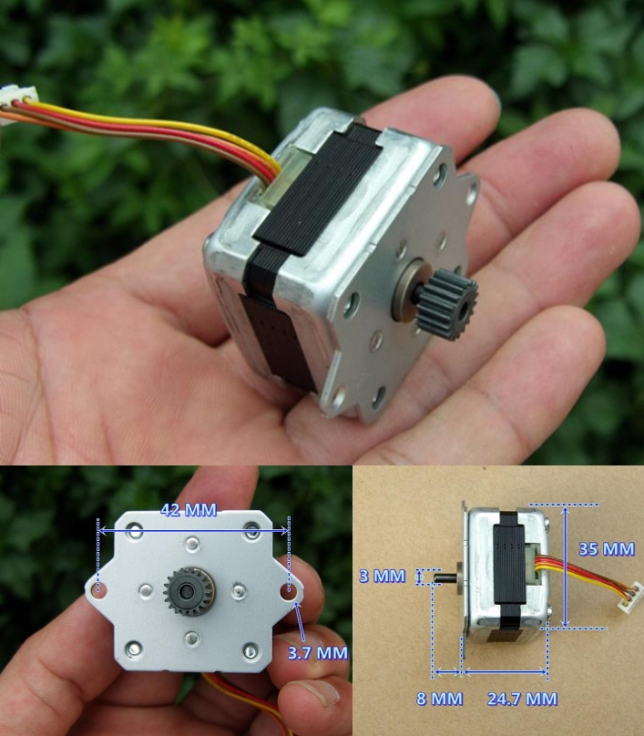 stepper motor 1.8 degrees torque 0.1 Nm two-phase
