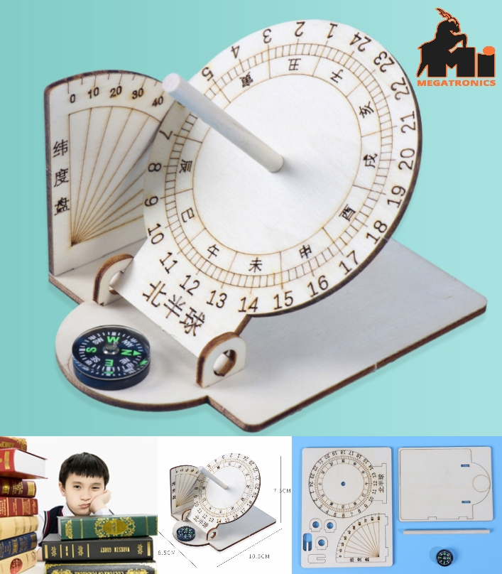 STEM DIY equatorial sundial Science and technology ancient timer small handmade