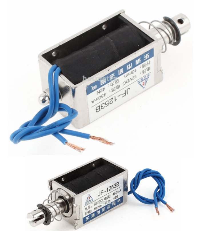 Solenoid JF-1253B 6V 450mA 10mm Pull Open Frame Wi
