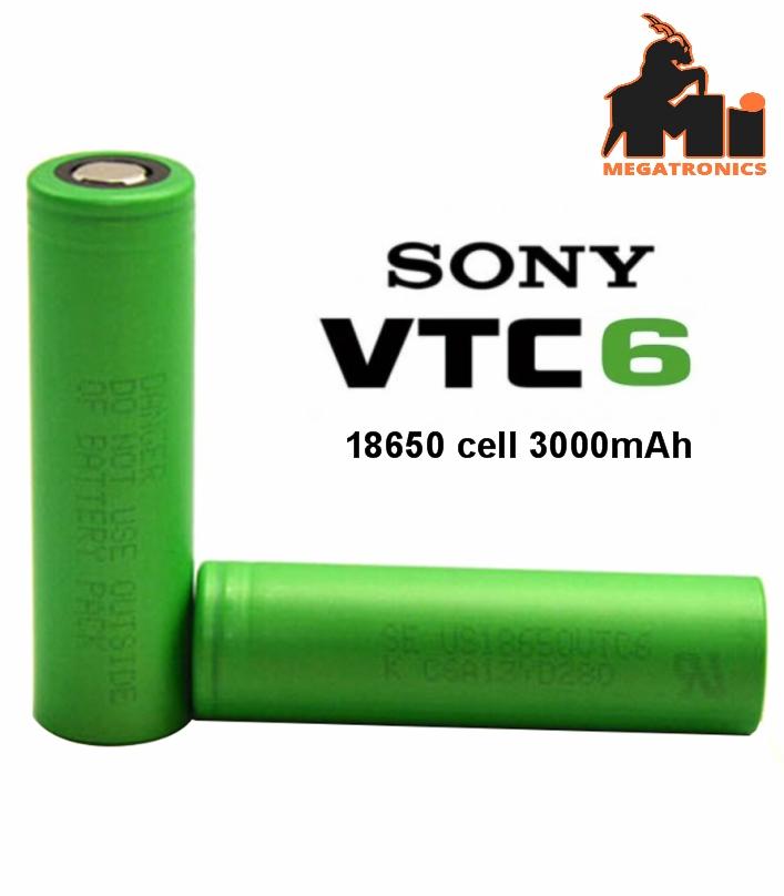 Sony VTC6 18650 3000mAh 15A Battery cell