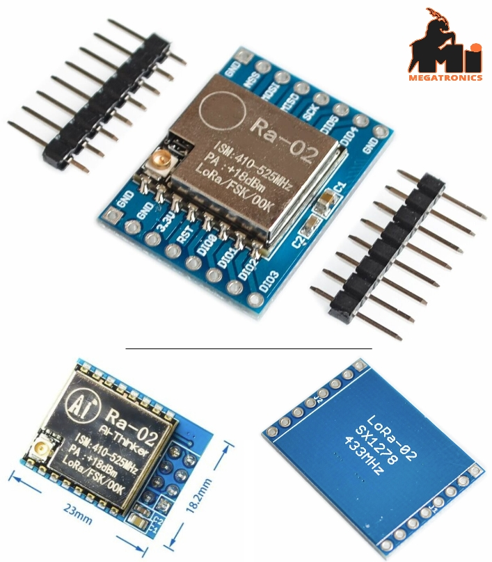 SX1278 LoRa 433M 10KM Ra-02 Wireless module Spread Spectrum Transmission Socket