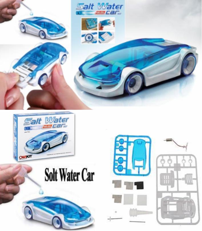 DIY Salt Water Powered Toy Car STEMP kids Science
