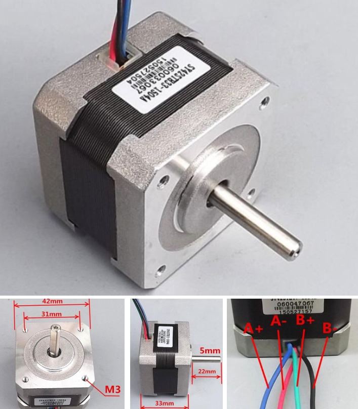 High torque two-phase stepper motor 42 stepping