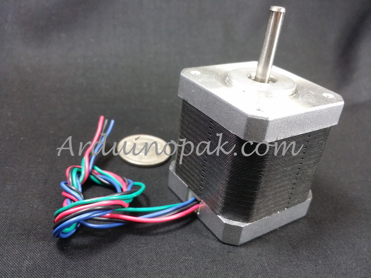 42 stepper motor 1.8 degrees 1.5A 4kg 2 phase 4-wi