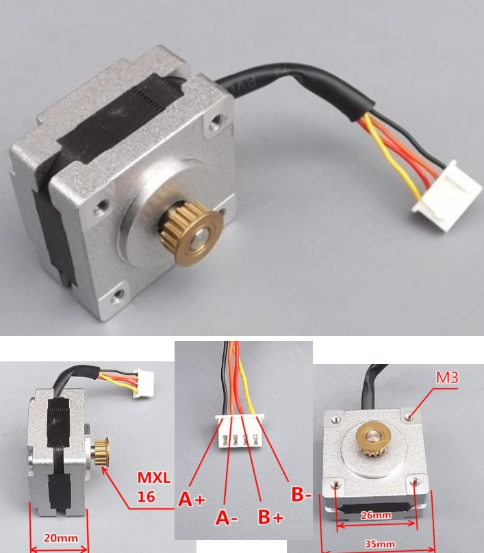 35 stepper motor 0.9 degree engraving 3D printer w