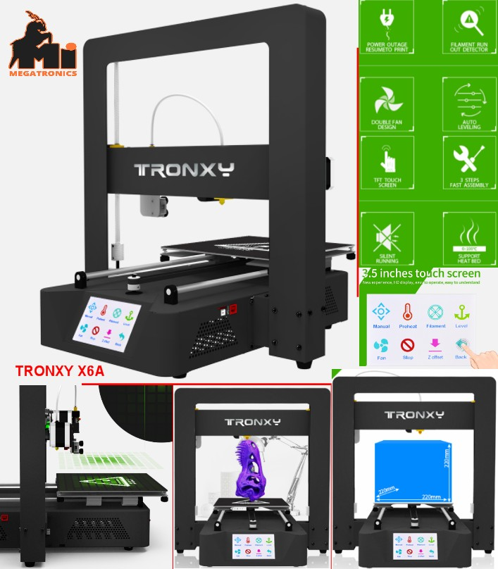 Tronxy X6A 3D Printer touch screen HQ