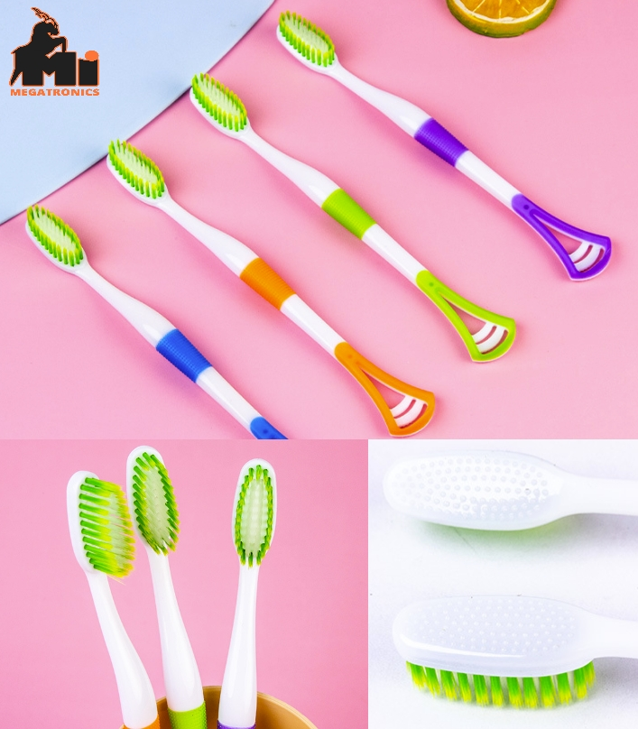 Care tooth Brush Away Cleaner Toothbrush Tongue Cleaner Scraper Oral Clean