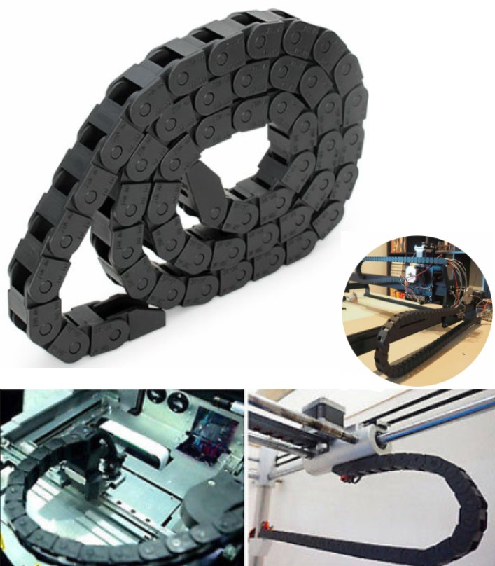 Towline Cable Drag Chain 10x10 1Meter for 3D CNC