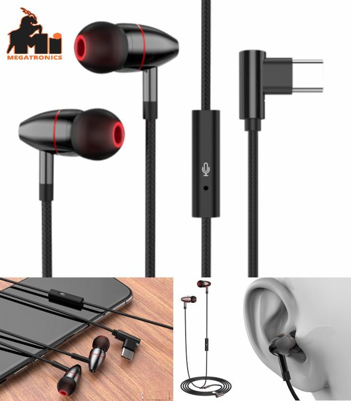 Bass wired headset type-c digital earphone