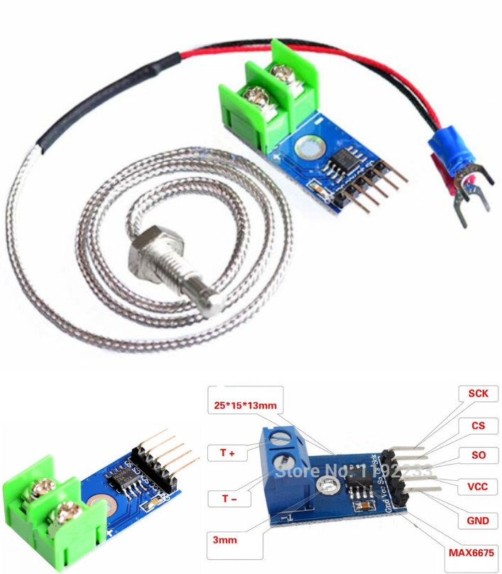 MAX6675 K-TYPE THERMOCOUPLE MODULE & SENSOR