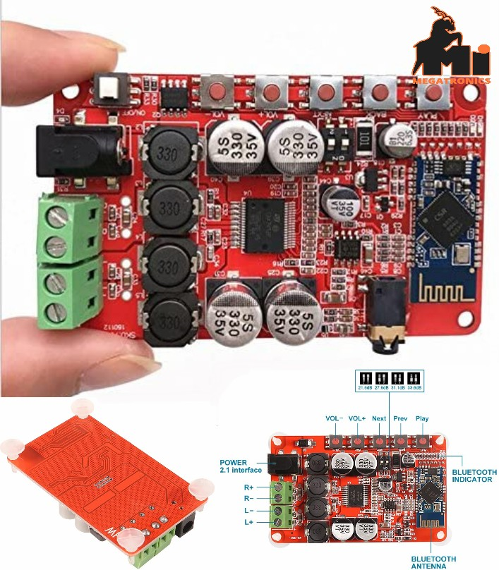 TDA7492P CSR4.0 Bluetooth Receiver Audio Amplifier Digital 50W+50W Wireless Boar