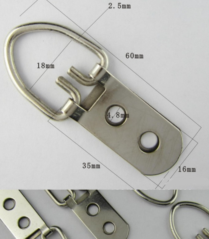 strap hanger double hole hanging cross stitch hook
