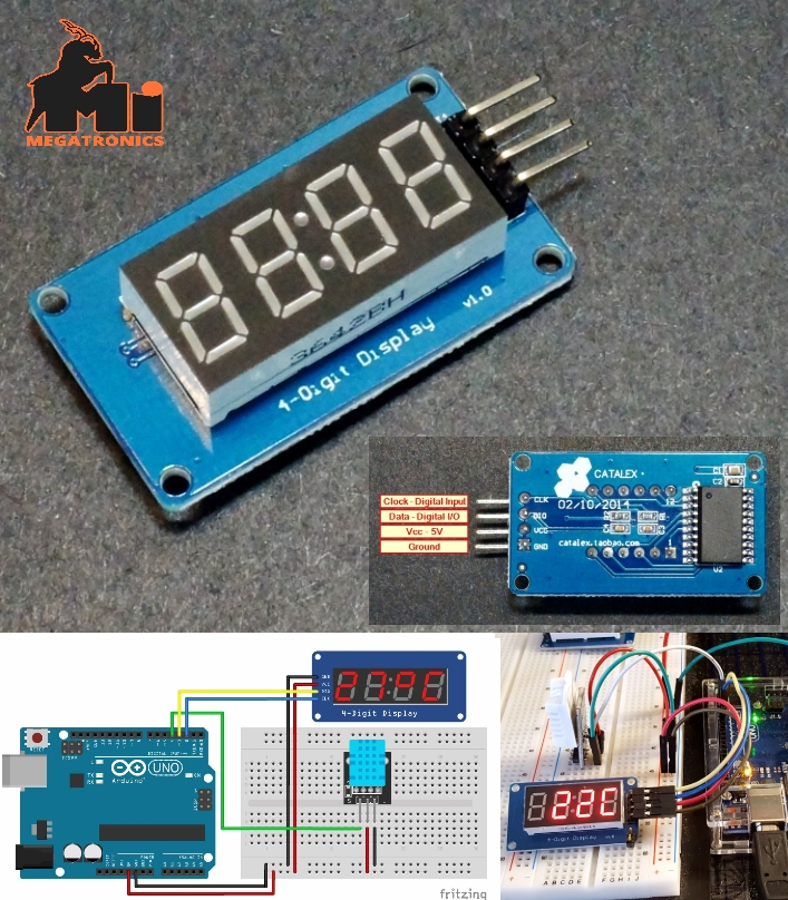 TM1637 4-Digit 7-Segment Red Display Module
