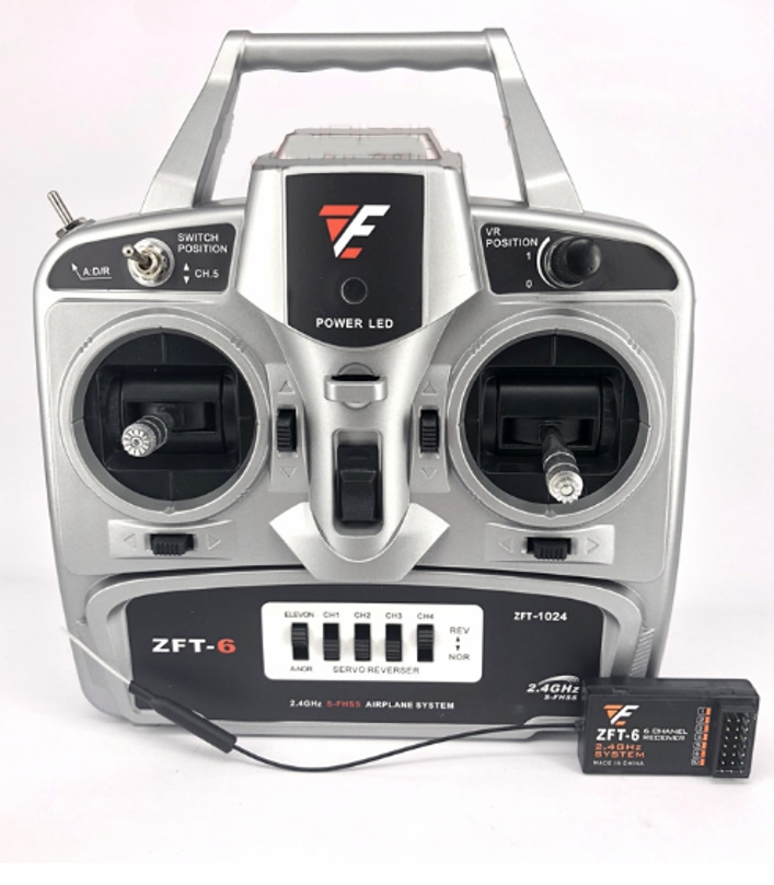 ZFT-6 2.4G transmitter + Receiver 6 channel remote