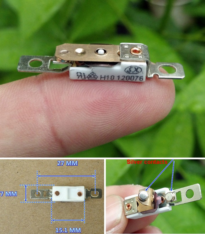Thermostate 120C' temperature switch self-recovery