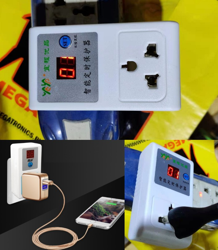 1 to 24h Countdown Push Button Switch Timer 220V Socket charging protection