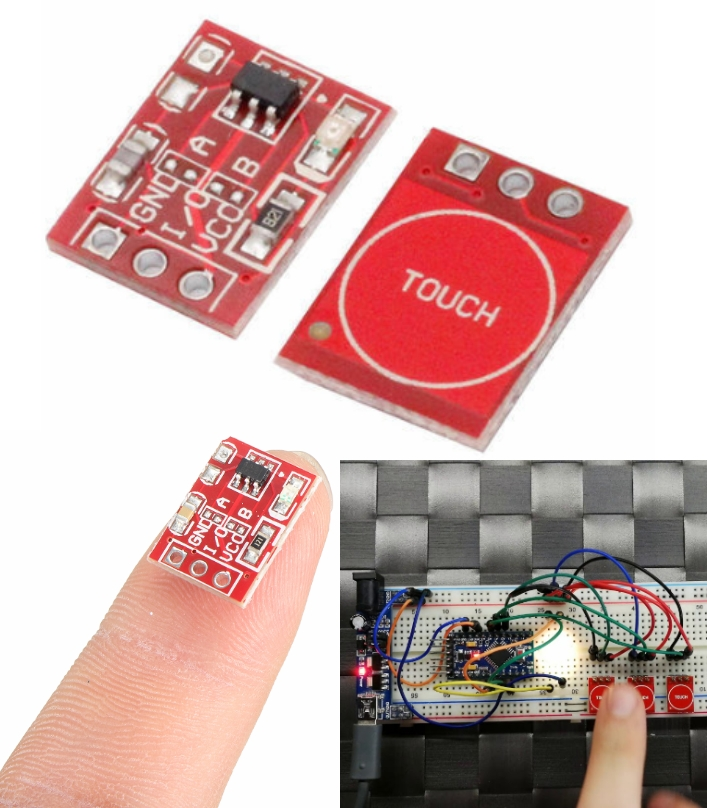 TTP223 Capacitive Touch Switch Button Self Lock