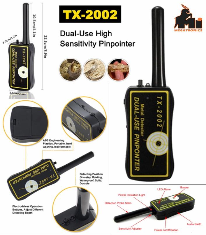 TX-2002 Pin Pointer Handheld Metal Detector Dual-U