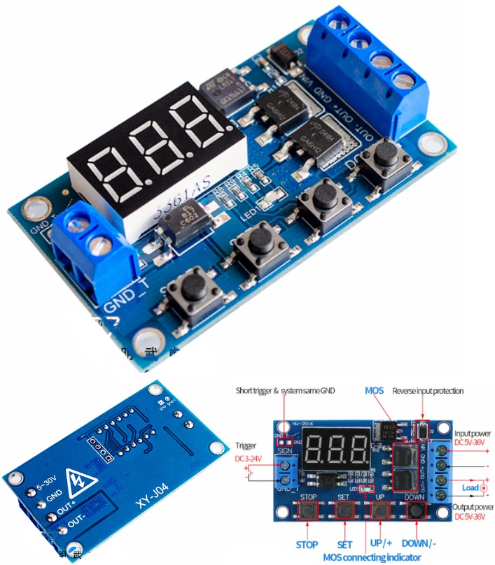 MOS Timer Delay Relay Control Switch Module trigge