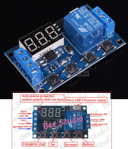 Timer 1 channel relay timer delay module