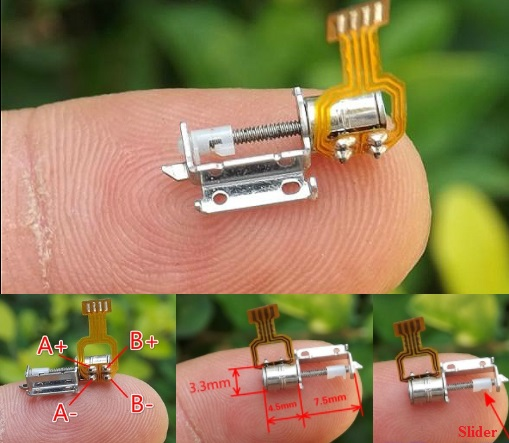 Micro stepper motor slide screw 2-phase 4-wire   D