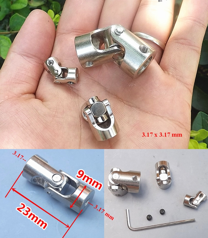 3.17x3.17 Metal steering universal joint coupling