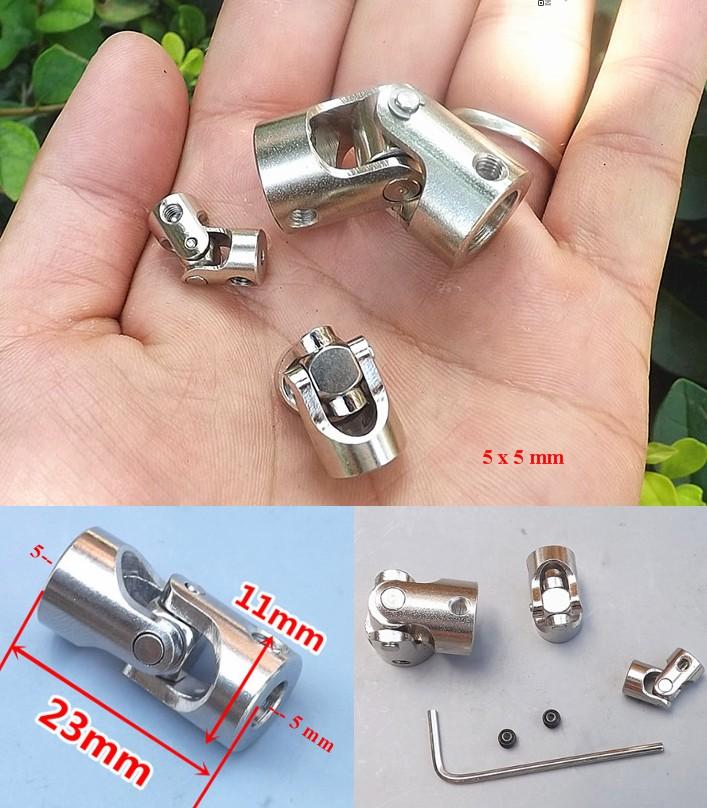 5x5 Metal steering universal joint coupling cross