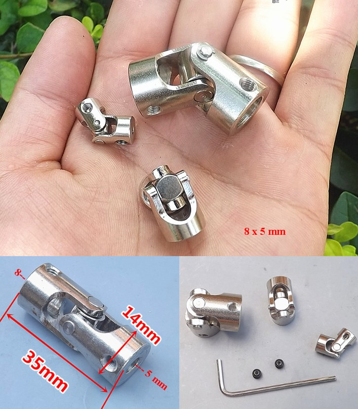 5x8 Metal steering universal joint coupling cross