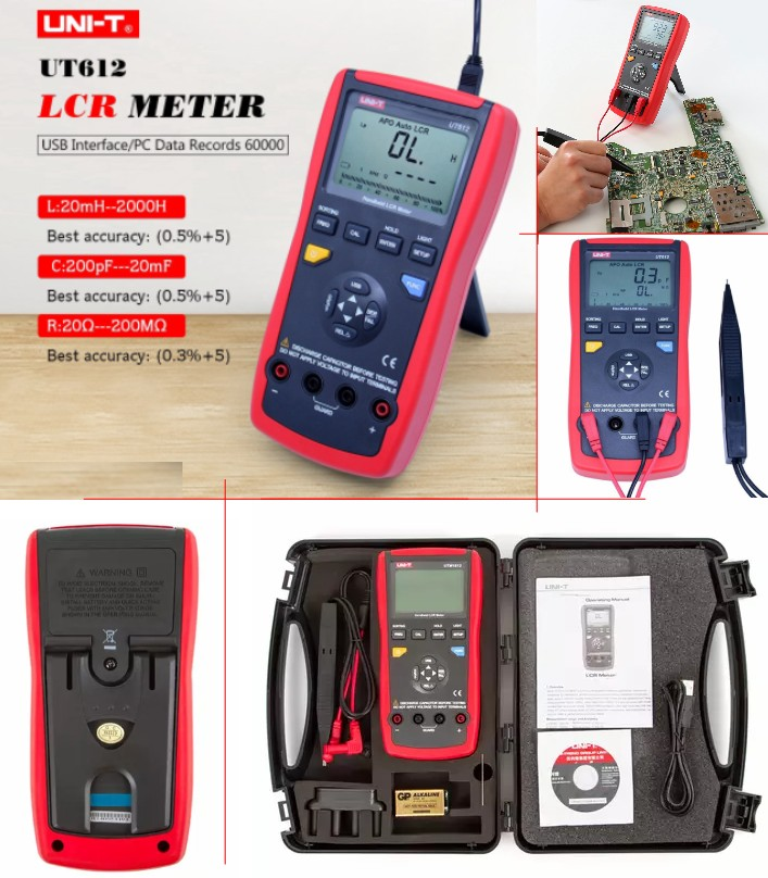 Uni-T UT612 LCR Meter USB Interface 20000 Counts M