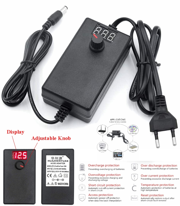 AC220 Adjustable DC 3-12V 2A universal adapter dis