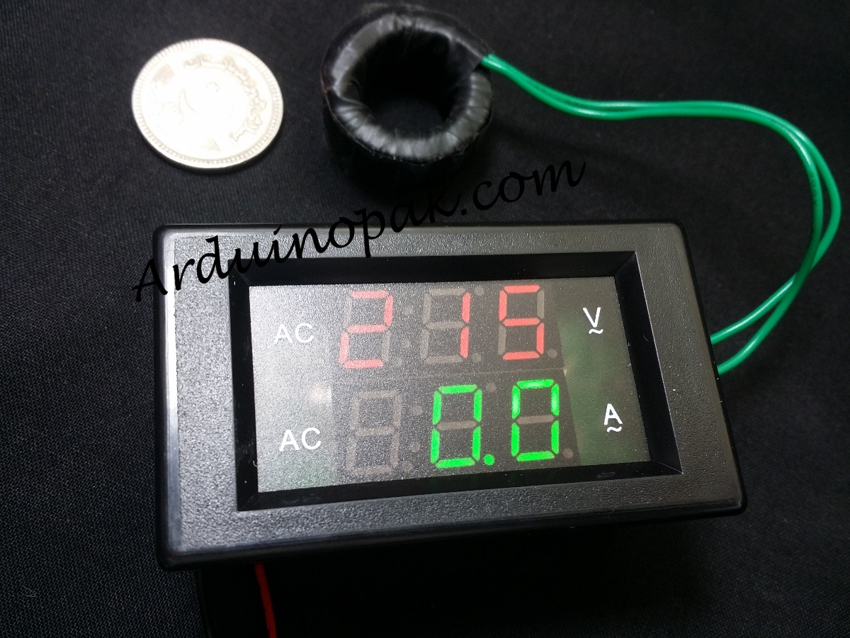 220 AC voltmeter and ammeter digital display AC cu
