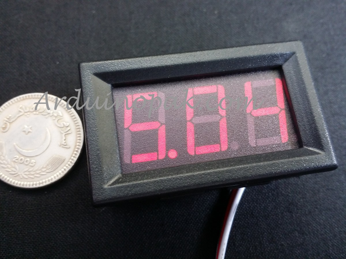 DC 5-30V digital voltmeter display 2 wires