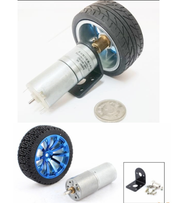 Vibration less Robot Wheel and motor with parts