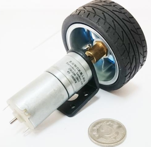 Vibrationless Robot Wheel with motor and parts hig