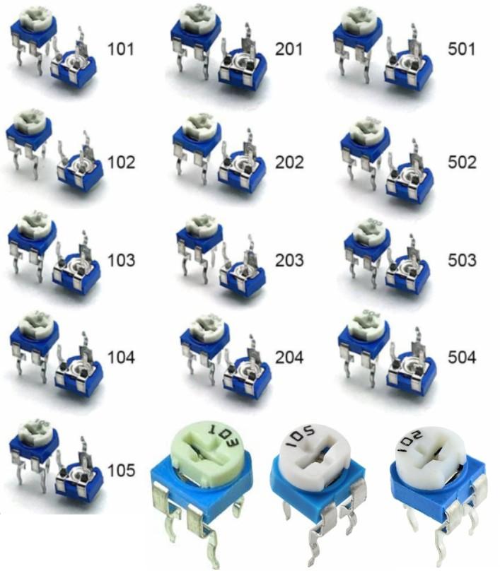 100K Ohm Variable Resistor 6mm Trimmer Potentiomet