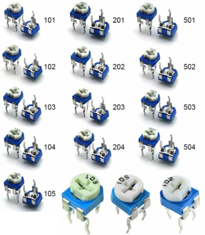 1K Ohm Variable Resistor 6mm Trimmer Potentiometer