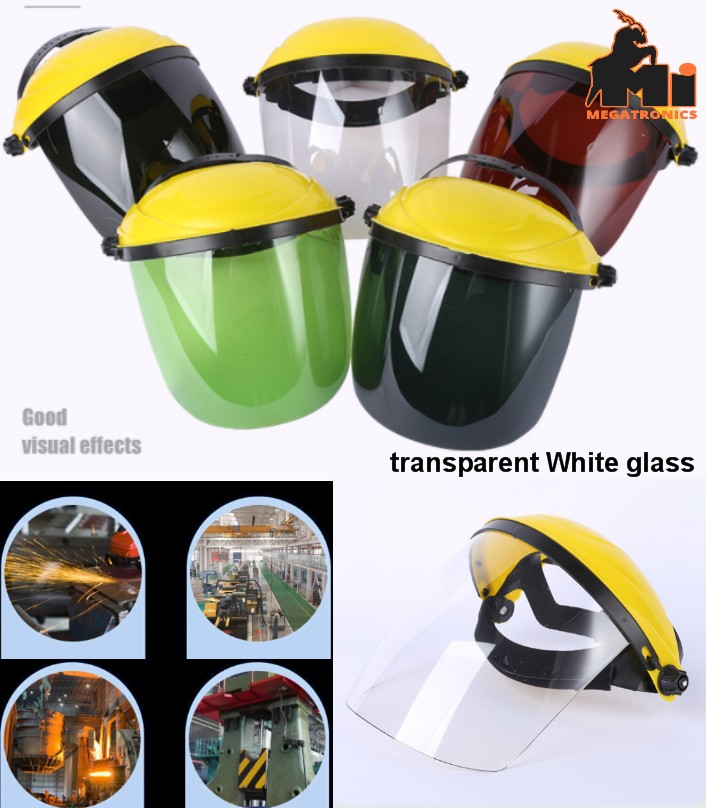 head-mounted transparent glass welding protective