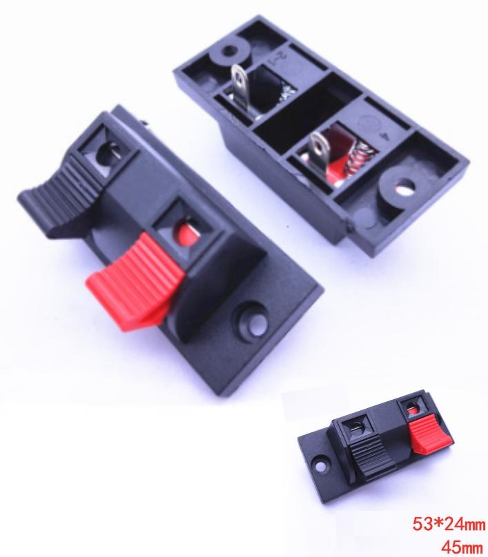 Red Black Push in Jack Terminal Single Row 2 Posit