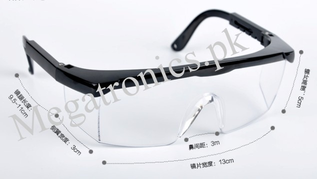 Deluxe Safety Glasses adjustable temples