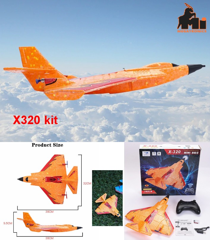 X320 EPP Mini RC Airplane RTF 2.4Ghz GYRO J11 Par